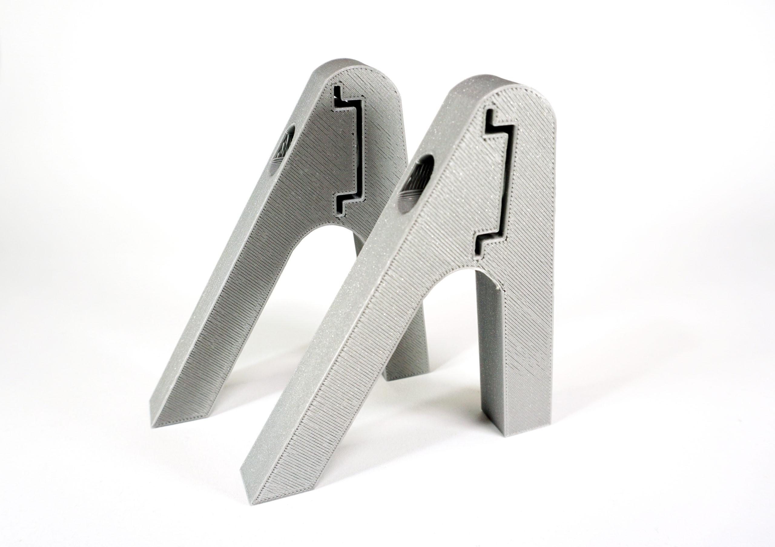 Small DIN Rail Desktop Stand Upright | INUX3D | Design Studio